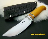 "Behring Wood Craft 5"" micarta amarilla"